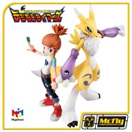Digimon Renamon e Makino Ruki MEGAHOUSE GEM
