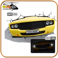 Luminaria 3D Light Muscle Car com LED