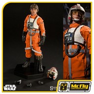 SIDESHOW sTAR WARS Luke Skywalker: Red Five X-wing Pilot 1/6