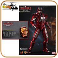 Hot Toys Silver Centurion Battle Damaged Helmet Iron Man 3 Limited