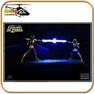 Cavaleiros Dos Zodiacos Hyoga Vs Camus Diorama Iron Studios