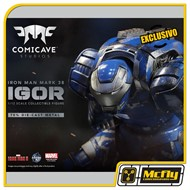 Comicave Iron Man Mark 38 Igor 1/12 Diecast Metal COM LED