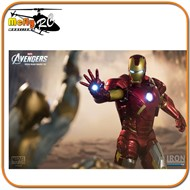 The Avengers Iron Man Mark VII Battle Scene Diorama Iron Studios