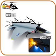 Luminaria  3D Light Fighter Jet com LED