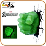 Luminaria 3D Light Hulk Avengers com Led