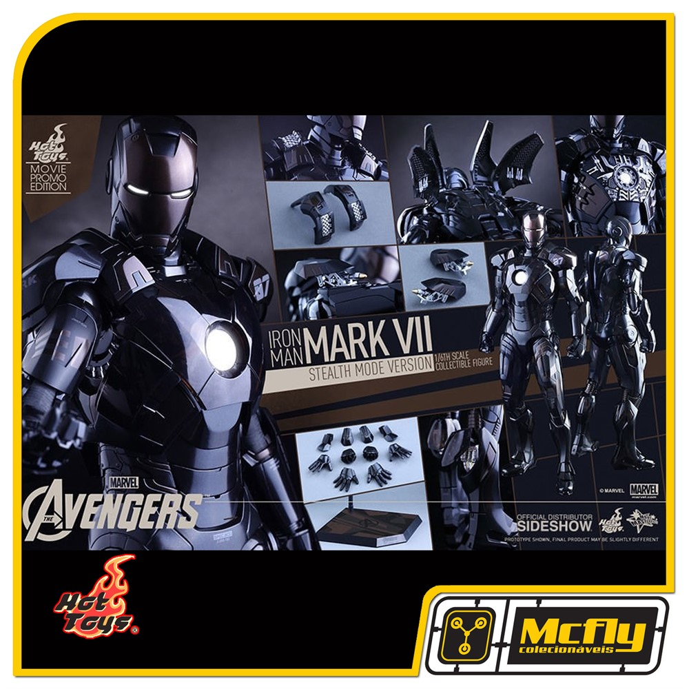 Hot Toys Iron Man Mark Vii Stealth Mode Version Mms282 Exclusive 25 Striker