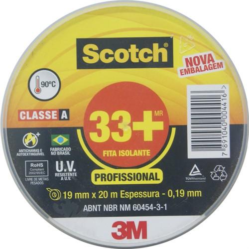 Fita isolante 19 mm x 20 metros - SCOTCH 33+ H0002243782 - 3M