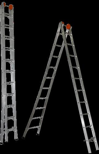 Escada Extensiva Alumínio Ágata 15 Degraus - ECE 015