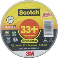 Fita isolante 19 mm x 20 metros - SCOTCH 33+ H0002243782 - 3M