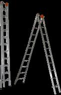Escada Extensiva Alumínio Ágata 09 Degraus - ECE 009