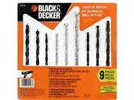 Jogo de Brocas Black & Decker Misto 09 peças BD0110CS