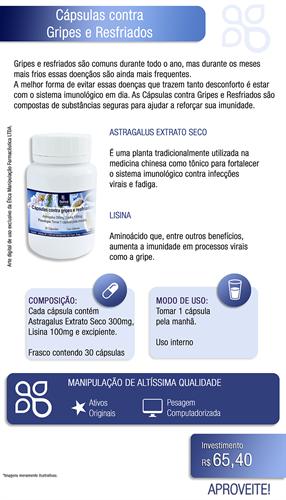 Cápsulas contra Gripes e Resfriados