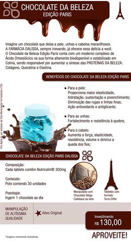 Chocolate da Beleza Edição Paris 30 unidades