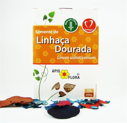 SEMENTE DE LINHAÇA DOURADA - 200G - APIS FLORA