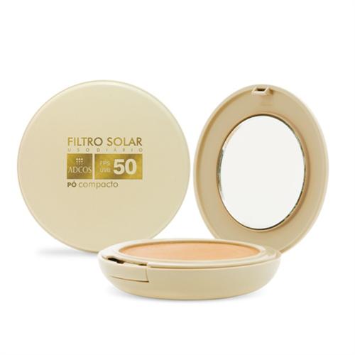 Filtro Solar FPS 50 Pó Compacto Beige Adcos