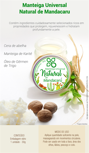 Manteiga Universal Natural de Mandacaru 30g