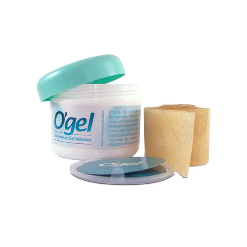 Lâmina de gel adesiva para cicatrização 40x3 - O'gel