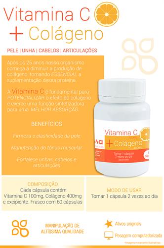 Colágeno com Vitamina C 60 cápsulas
