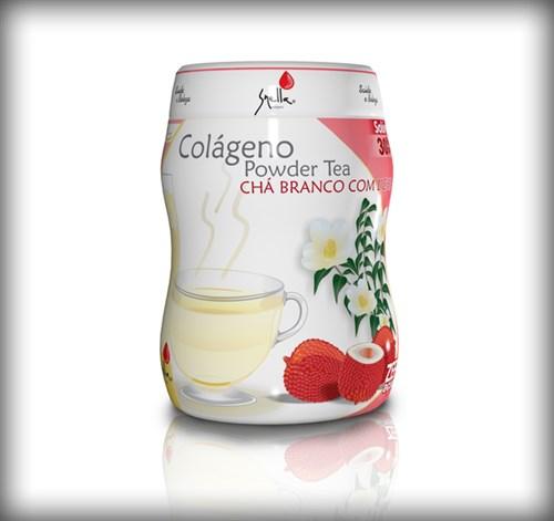Colágeno Powder Tea - Chá Branco com Lichia - Snella