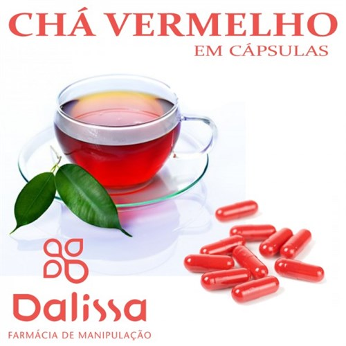 Camellia sinensis (Chá Vermelho) 60 Cápsulas