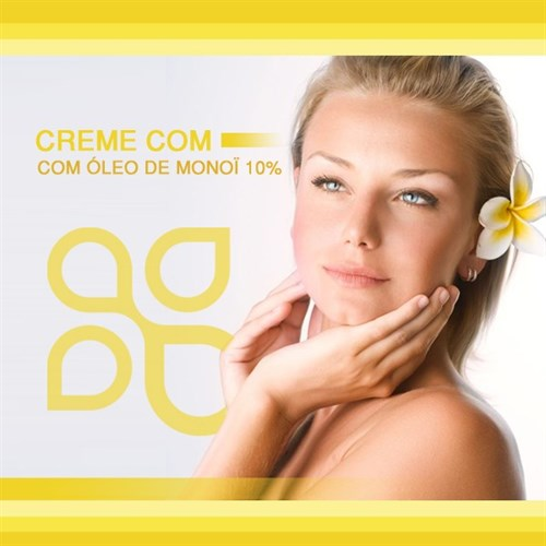Creme facial com óleo de Monoï 10%