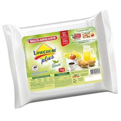 Lowçucar Plus com Stevia  Refil 1kg