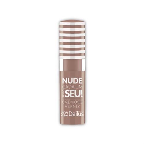 Batom Cremoso Brilho Verniz Crema Nude Cada um Tem o Seu! Dailus
