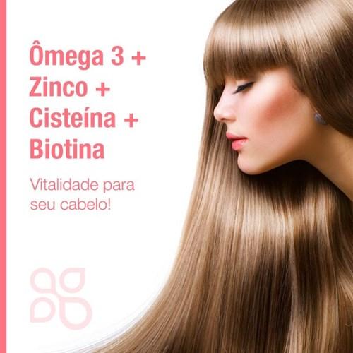 Ômega 3 + Zinco + Cisteína + Biotina