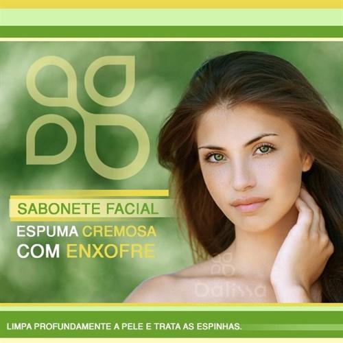 Sabonete facial espuma cremosa com enxofre