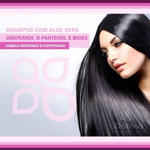 Shampoo com aloe vera, Jaborandi, D-Pantenol e Bioex