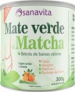 Mate Verde e Matcha sabor de capim limão + laranja - Sanavita