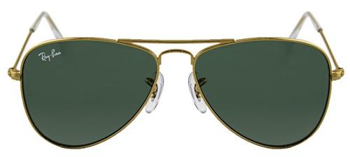 22268debe1871 Ray Ban Júnior Aviador - INFANTIL - 9506S - Armação Dourado Lentes Verde  G15 - 223