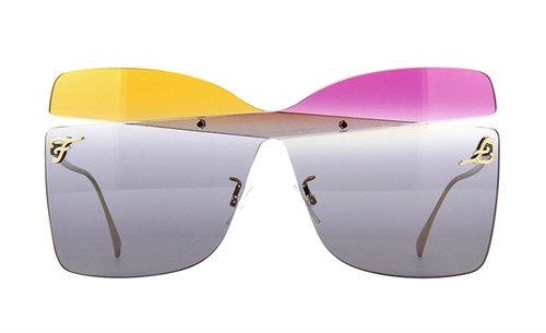 Fendi 0399S - Armação Máscara Multicolor - 01B90