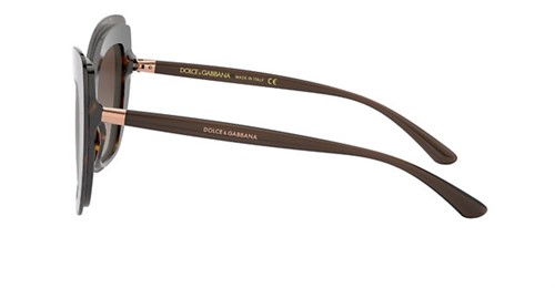 Dolce & Gabbana 4364 - Armação Acetato Havanna, Lentes Marrom Degradê - 50213