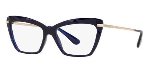 Dolce & Gabbana 5025 - Armação Acetato Azul, Efeito Cristal - 3094