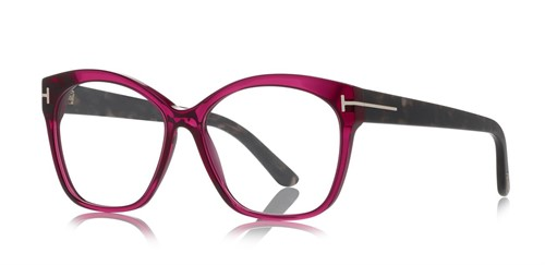 Tom Ford 5435 - Armação Acetato Frontal Rosa, Hastes Preto Mesclado - 075