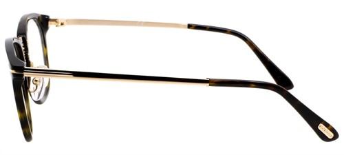 Tom Ford 5466 - Armação Acetato Havana, Detalhes Metal Dourado - 052