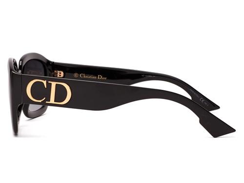 Dior DDior - Armação Acetato Preto, Lentes Cinza Degradê - 8079O