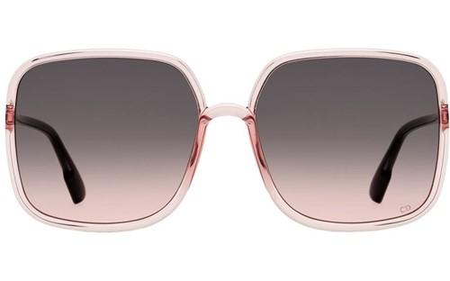 Dior So Stellaire 1 - Armação Rosa Translucido, Lentes Marrom Degradê - 1N5FF
