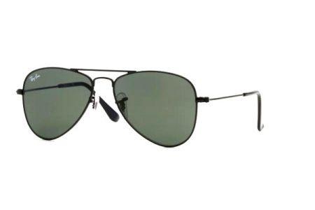 322c5ef43115c Ray Ban Júnior Aviador - INFANTIL - 9506S - Armação Preta, Lentes Verde G15  - 200171 - Comprar - Preço Santa Catarina