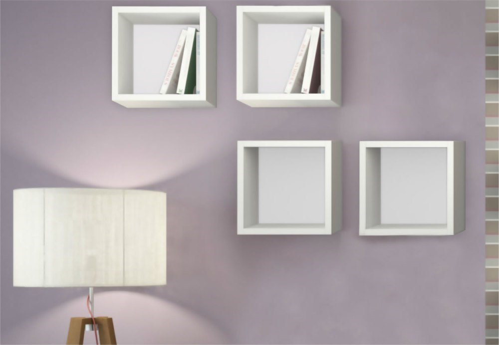 Kit 04 Nichos Quadrado Decorativo 31×31 Branco Optimize