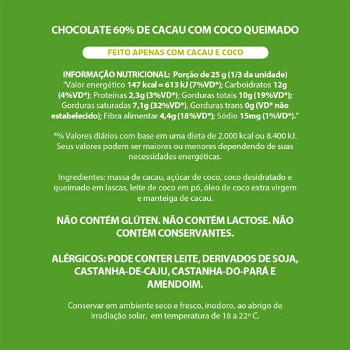 Mendoá com Coco Queimado 60% - 75g