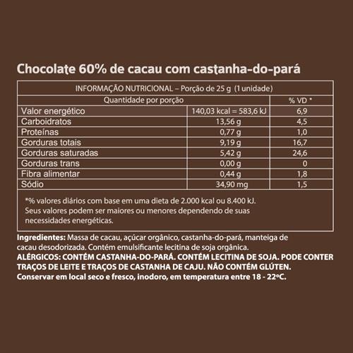 Mendoá Cubo Castanha-do-Pará - 120g