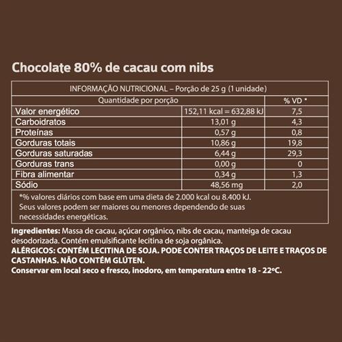 Mendoá Cubo 120g | Nibs