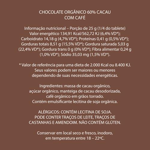 Mendoá Orgânico Café 60%