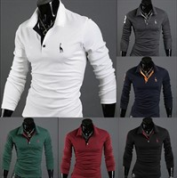 Camisa Polo Slim Fit Longa Casual