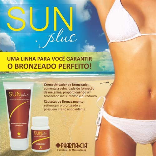 SUN PLUS - ATIVADOR DO BRONZEADO 200G