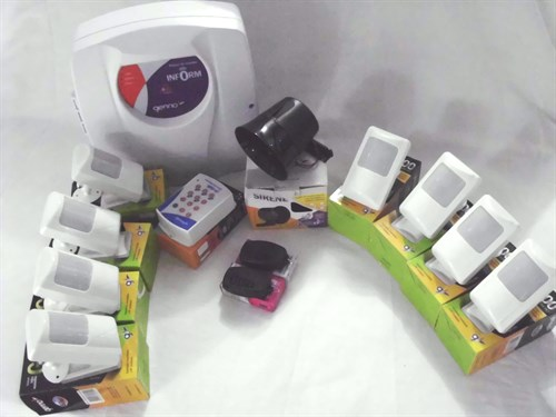 Kit Alarrme -8 sensores com fio + 1 central de alarme + 1 discadora +2 controles + 1 sirene GENNO