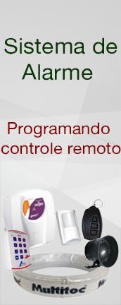 Sistema de alarme : Programando controle remoto