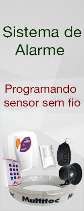 Sistema de alarme : Programando sensor infravermelho sem fio